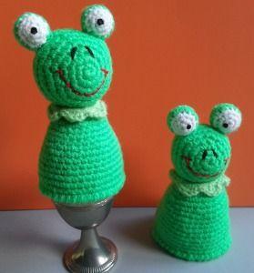 Eierwärmer Kleiner Frosch Gehäkelt Amigurumi Von Ellis