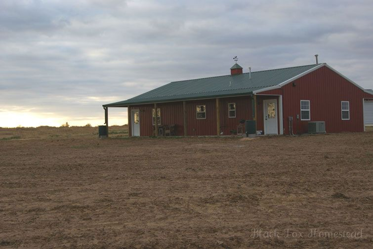 Very Simple 30 X 50 Metal Pole Barn Home In Oklahoma Hq Pictures Urban Homesteading Homesteading Homesteading Skills