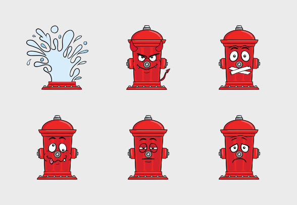 Fire Hydrant Emoji Cartoons Icons By Vector Toons Cartoon Icons Cartoon Emoji