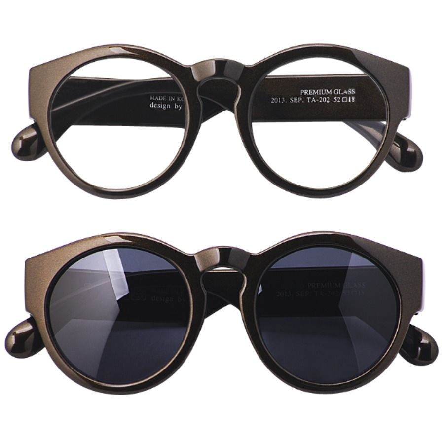 473b9a0167 HARUHOLIC Add Sunglasses Lens Vintage Retro Round Eyeglasses Hand Made In  Korea  HARUHOLIC