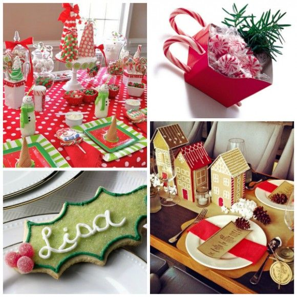 christmas table place setting ideas