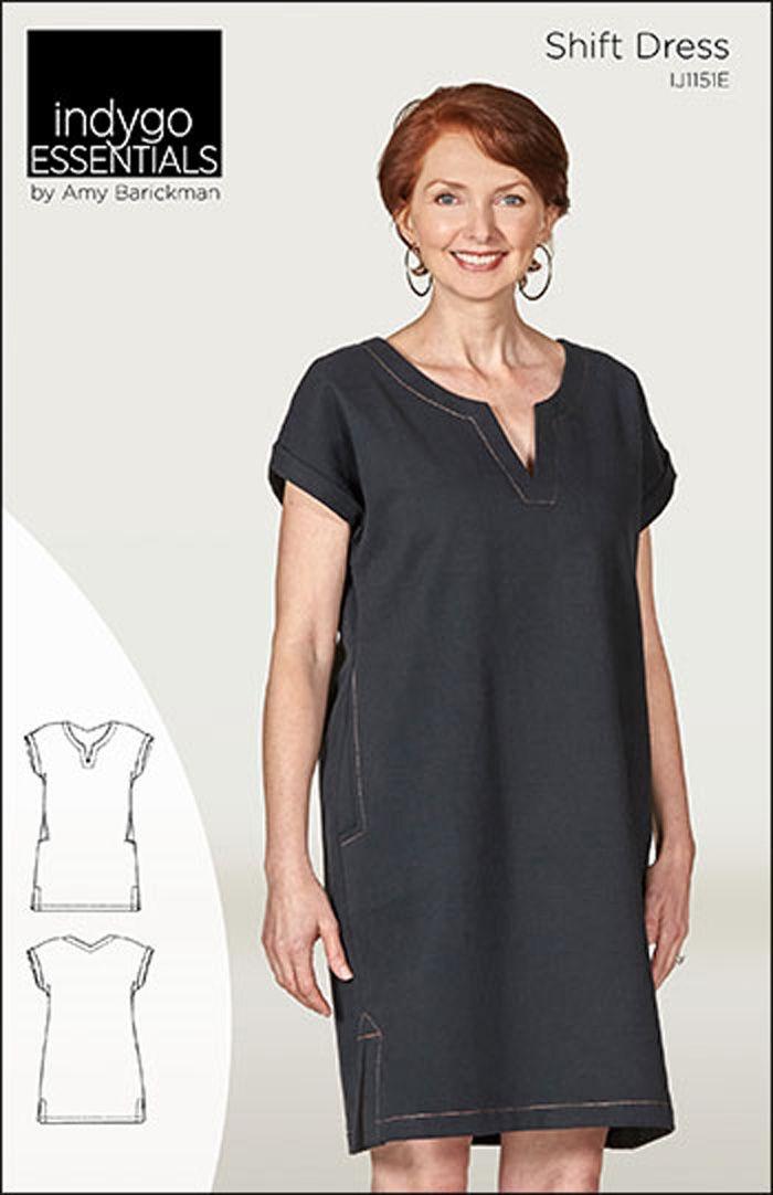 Indygo Essentials Shift Dress Pattern IJ60 Clothing Patterns Fascinating Shift Dress Sewing Pattern