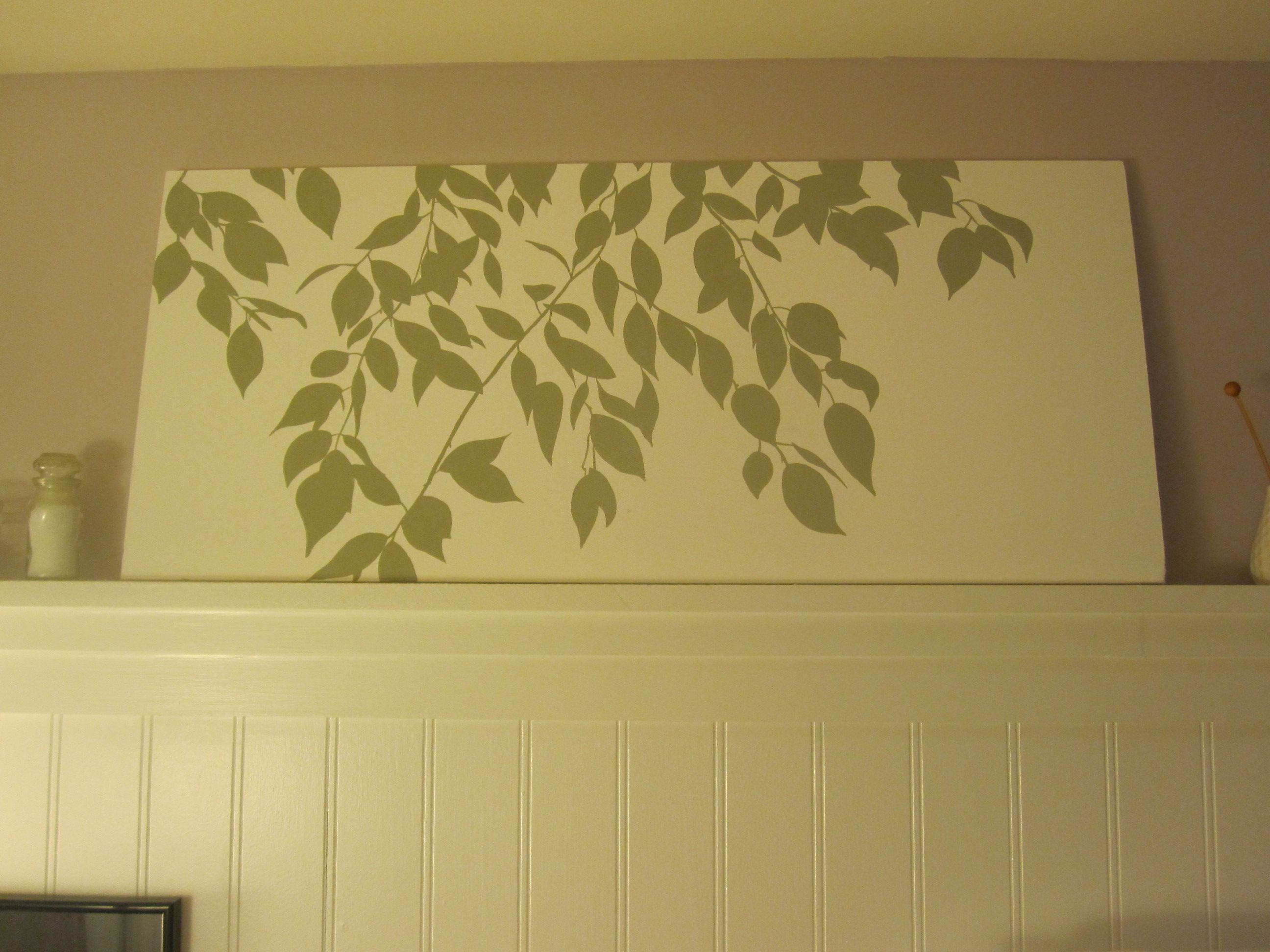 Custom branch silhouette artwork tutorial leaves craft and diy art