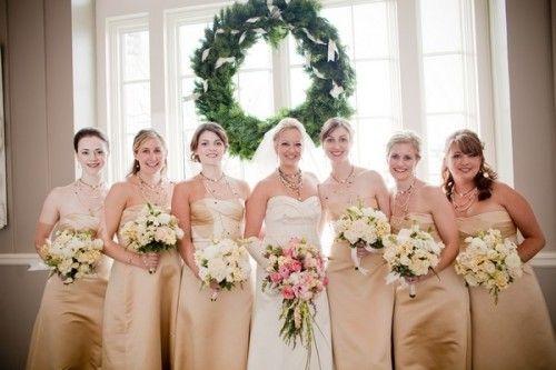 Bridesmaid Dresses In Neutrals Champagne Beige And Pale: Champagne Bridesmaids Dresses