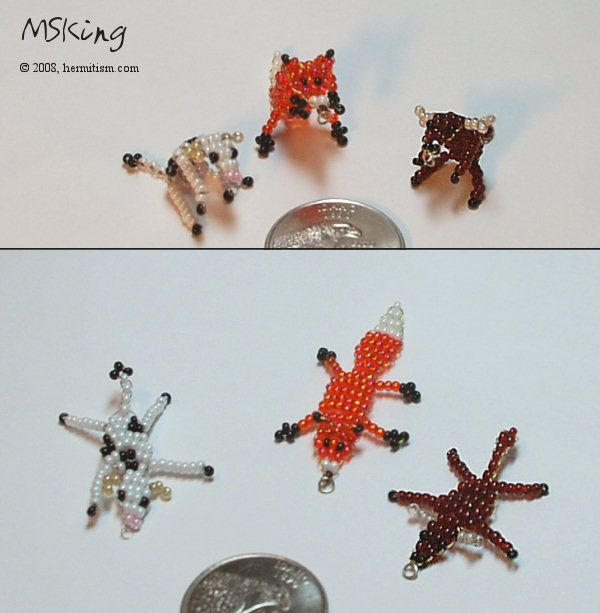 2d bead animals 3 by hermitworm i ve got to make the fox