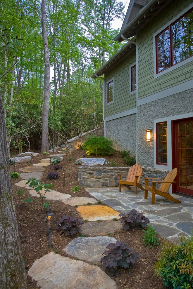 Splendid landscape designs for large backyards in for Walkout basement patio ideas