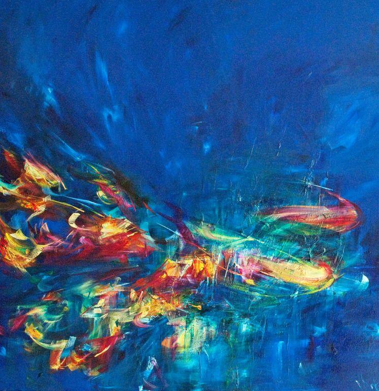 """Saatchi Online Artist: Victoria Horkan; Oil, 2011, Painting """"Landing"""""""