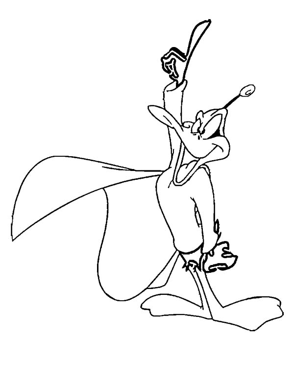 Daffy Duck Duckdodgers Attention Coloring Pages Netart In 2020 Daffy Duck Coloring Pages Color