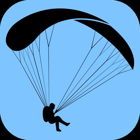 Silhueta simples de um parapente simple paragliding - Parapente dessin ...
