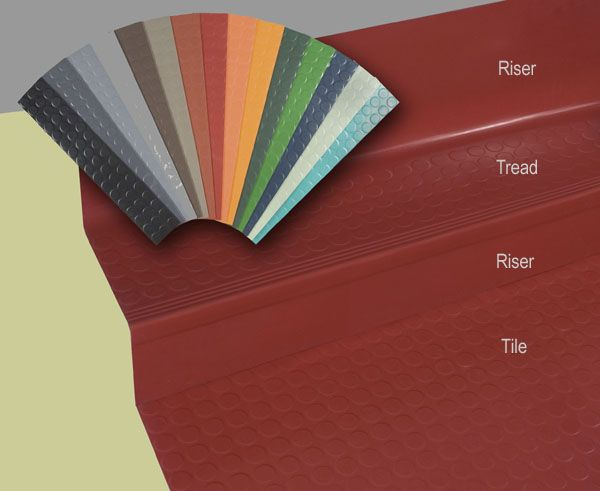 Orbitread 1Piece Rubber Stair Tread Riser school supplies and