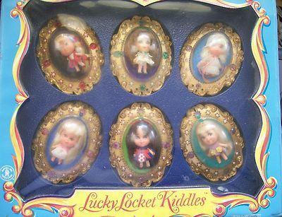 Liddle Kiddle LUCKY LOCKET CASE W DOLLS/INSERTS lower price!!!