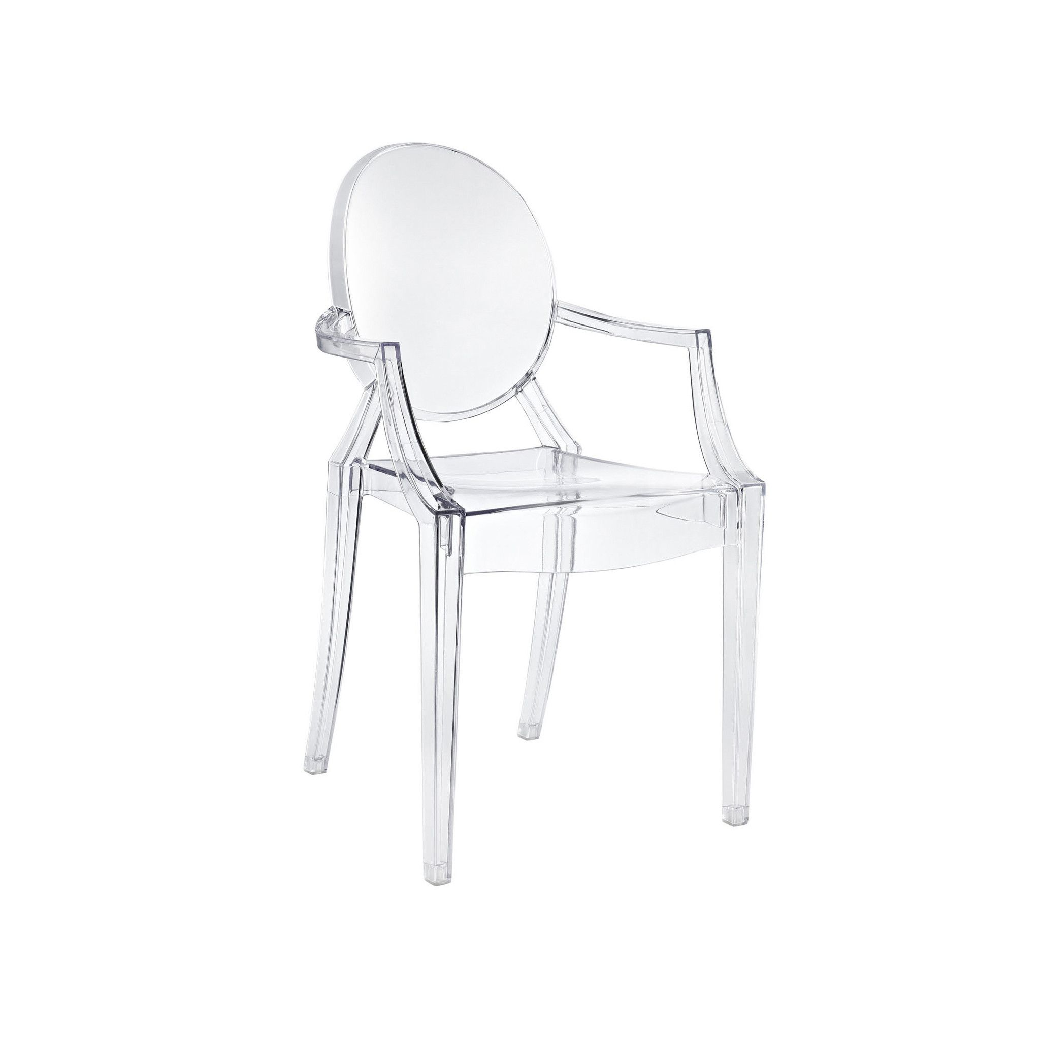 Polycarbonate Crystal Clear Ghost Chair (Set of 4)