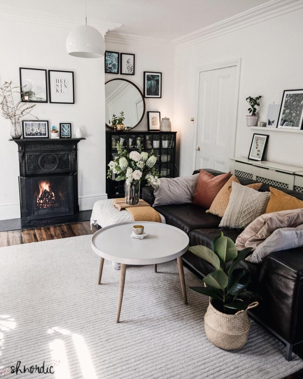 In My Living Room How To Decorate Long And Narrow Rooms By Shnordic Leather Couches Living Room Cosy Living Room Black Leather Couch Living Room