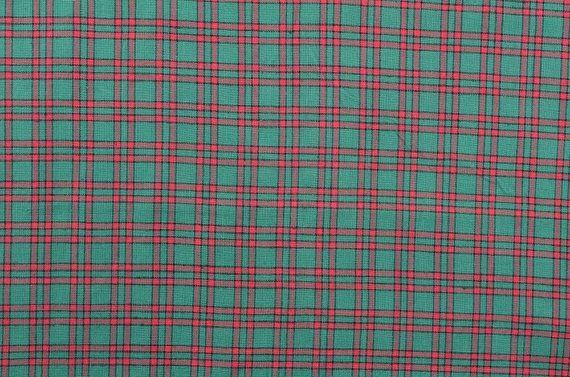 Cotton Christmas Fabric Christmas Plaid Fabric Red Green www