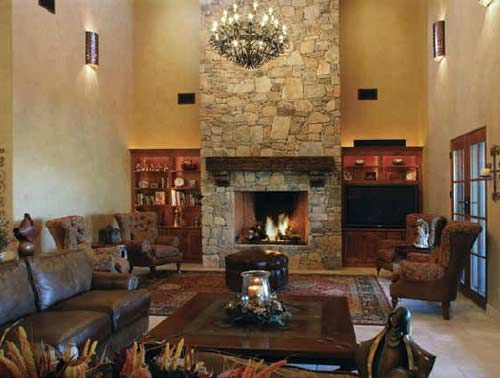 Stone fireplace mantels are an elegant way to add class and