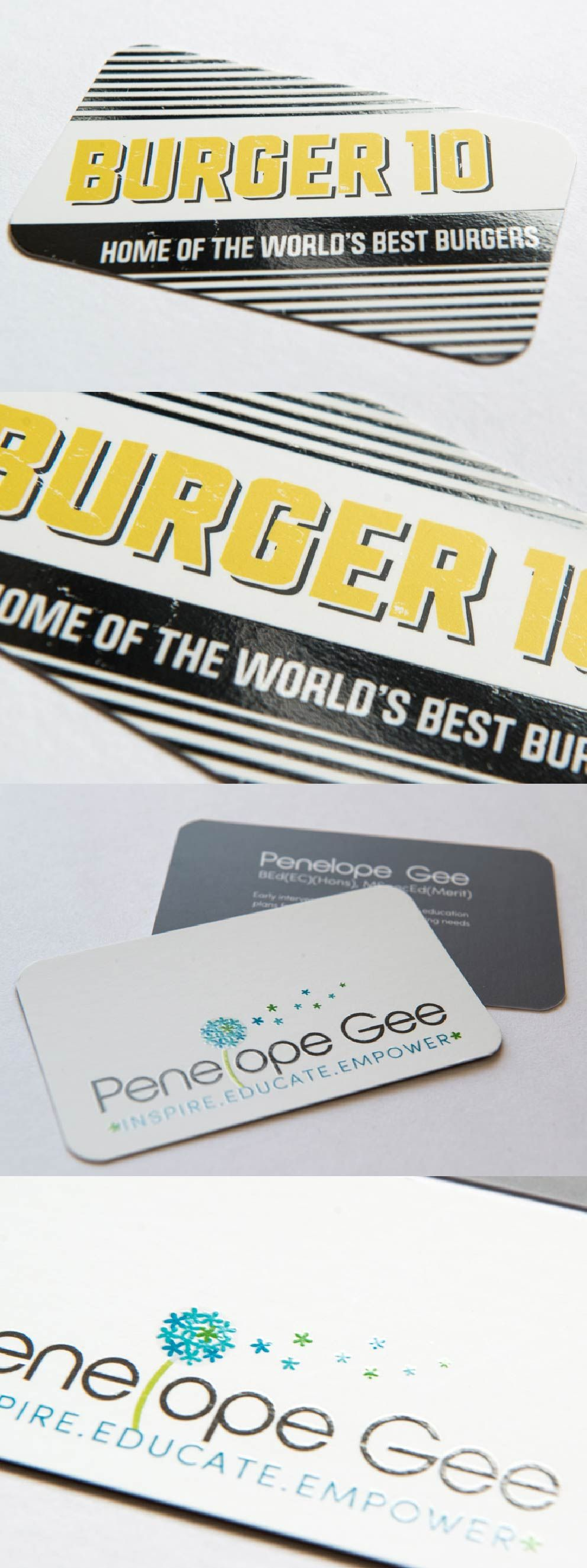 add extra depth to your business cards with a uv spot finish add