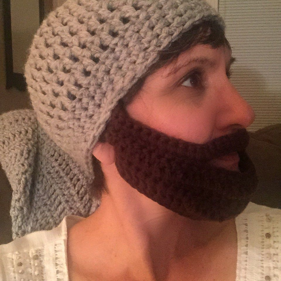 Adult Beard Hat Crochet Pattern