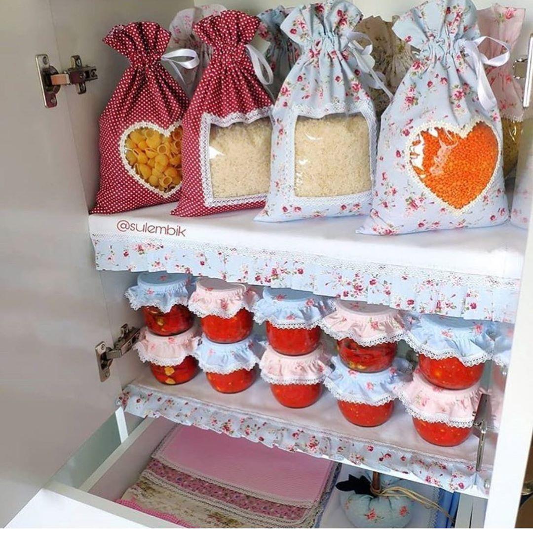 ایده جالب برای تزیین کیسه برنج و حبوبات و شیشه مربا و ترشی