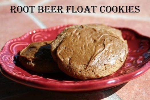 Root Beer Float Cookies  Yield: 60 cookies Units: US | Metric   1 cup granulated sugar  1 cup brown sugar, packed  1 cup butter, softened  1/2 cup buttermilk  2 eggs  2 teaspoons root beer extract  1 teaspoon vanilla  4 cups all-purpose flour  1 teaspoon baking soda  1/4 teaspoon salt   Frosting  1 cup confectioners' sugar  1 tablespoon half-and-half  2 teaspoons butter, softened  1 teaspoon root beer extract  Directions:   1 Preheat oven to 375 degrees.  2 Lightly grease cookie sheets.  3…