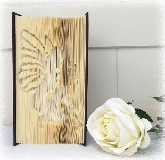 Book Folding Cut & Fold Pattern Flower Fairy + FREE Tutorial and Metric Ruler Printable by Book Folding Magic More