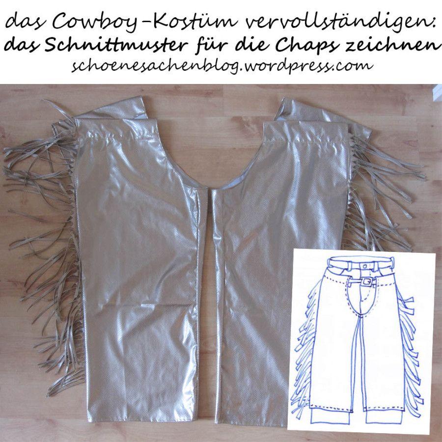 3f1102ec2282cd Eine Cowboy-Weste mit Fransen, ein Schnittmuster für eine Weste zeichnen,  Cowboy Kostüm