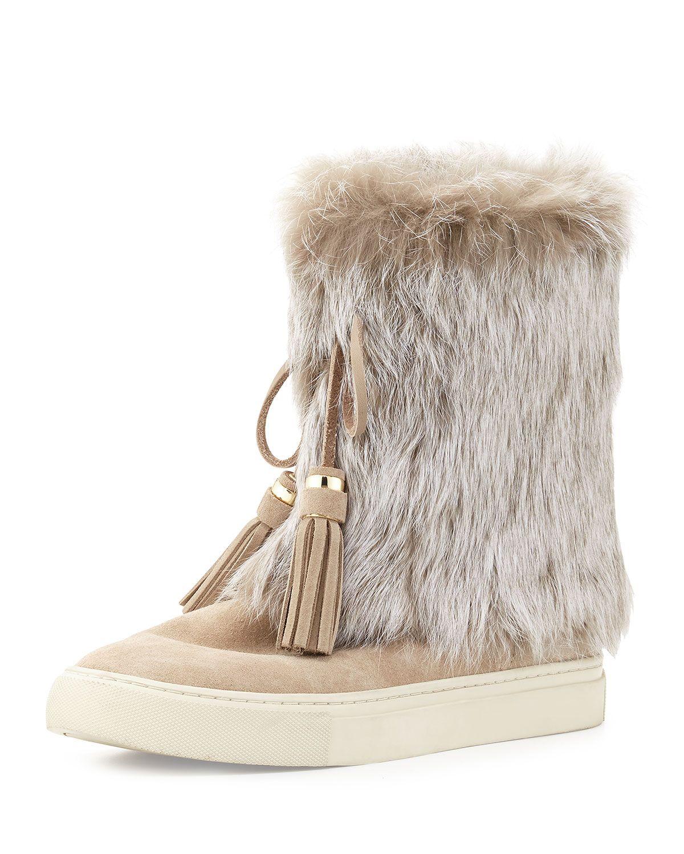 161e5f4f2b9 Anjelica Fur-Cuff Boot Dark Knot | Just a moment | Boot cuffs, Boots ...