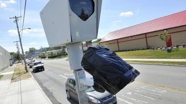 Bags Cover Red Light Cameras In Springfield After The City Shut Them Off In 2015 Following A New State Law Requiring An Red Light Camera Light Red Springfield
