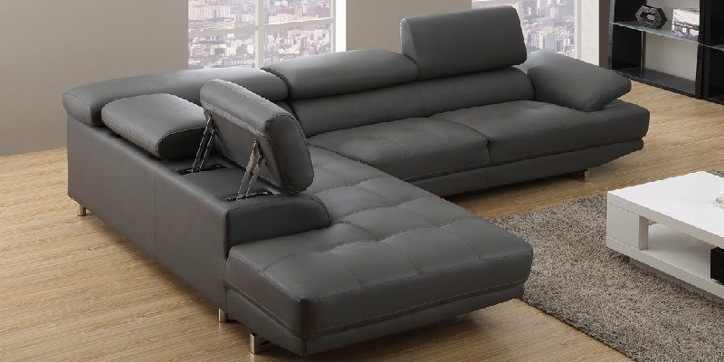 Corner Sofa Bed with Storage Real Leather Left and Right ...