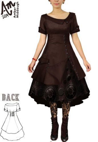 Steam Punk Gear Dress $50( Design Auction- if it bids high enough ChicStar will make this design in the winners size ) Use my designer's coupon code for 30% off this dress or any ChicStar purchase. The code is: AMBER37