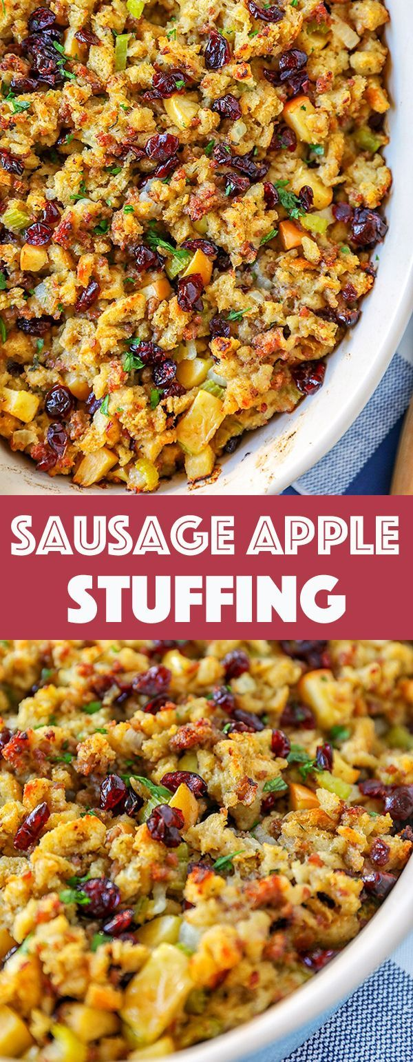 Stuffing Recipe Easy - Cranberry Sausage Apple Stuffing images