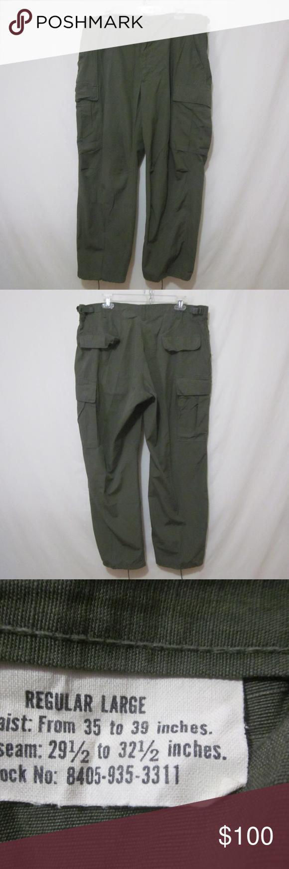 Vietnam War USGI OG107 Ripstop Jungle Pants For sale is a