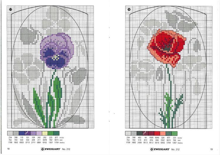 Gallery.ru / Фото #56 - разные цветочные схемы - irisha-ira