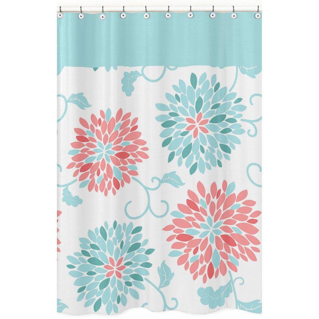 Flower Burst Dahlia Shower Curtain