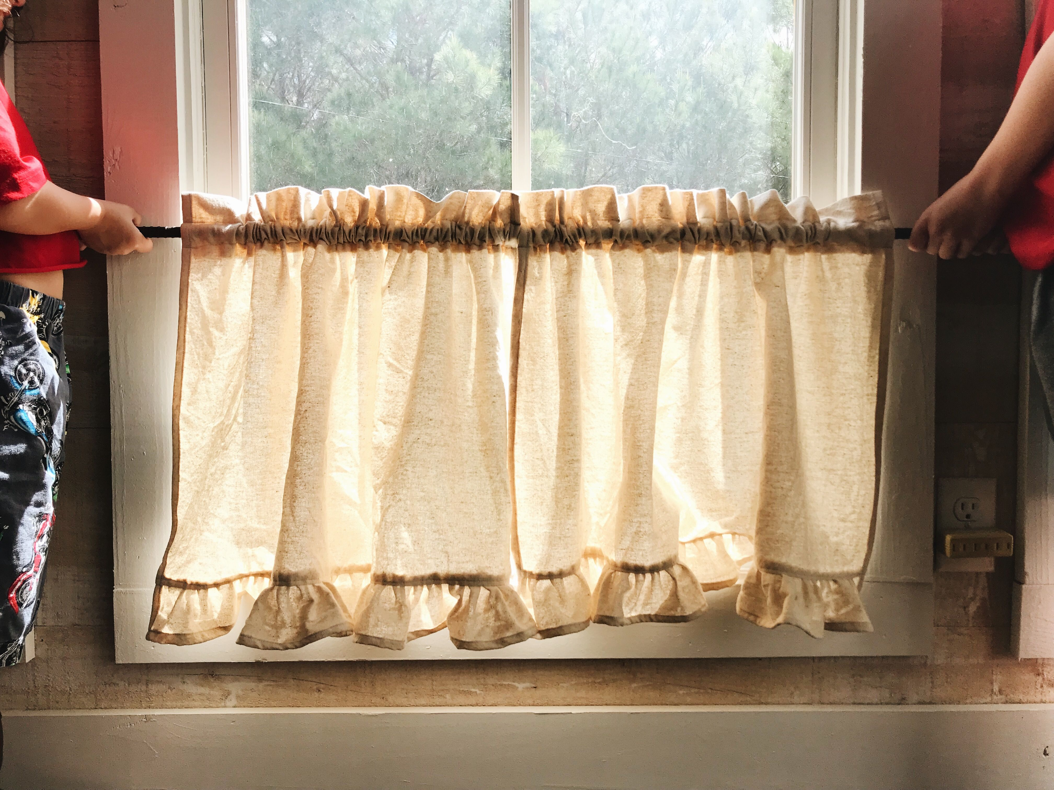 Farmhouse Cafe Curtains Cafe Curtains Farmhouse Curtains Diy