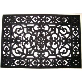 Style Selections 24 In X 36 In Wrought Iron Rubber Door Mat