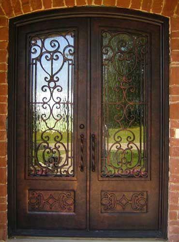 Iron Doors Entrada And Wood Dallas TX Eyebrow