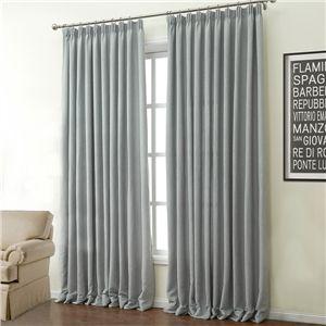 Zeige Details für ( 1er Pack ) Modern Grau Unifarbe Polyester & Baumwolle Energiesparungsvorhang-503