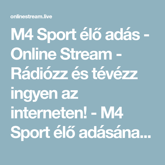 M4 Sport Stream