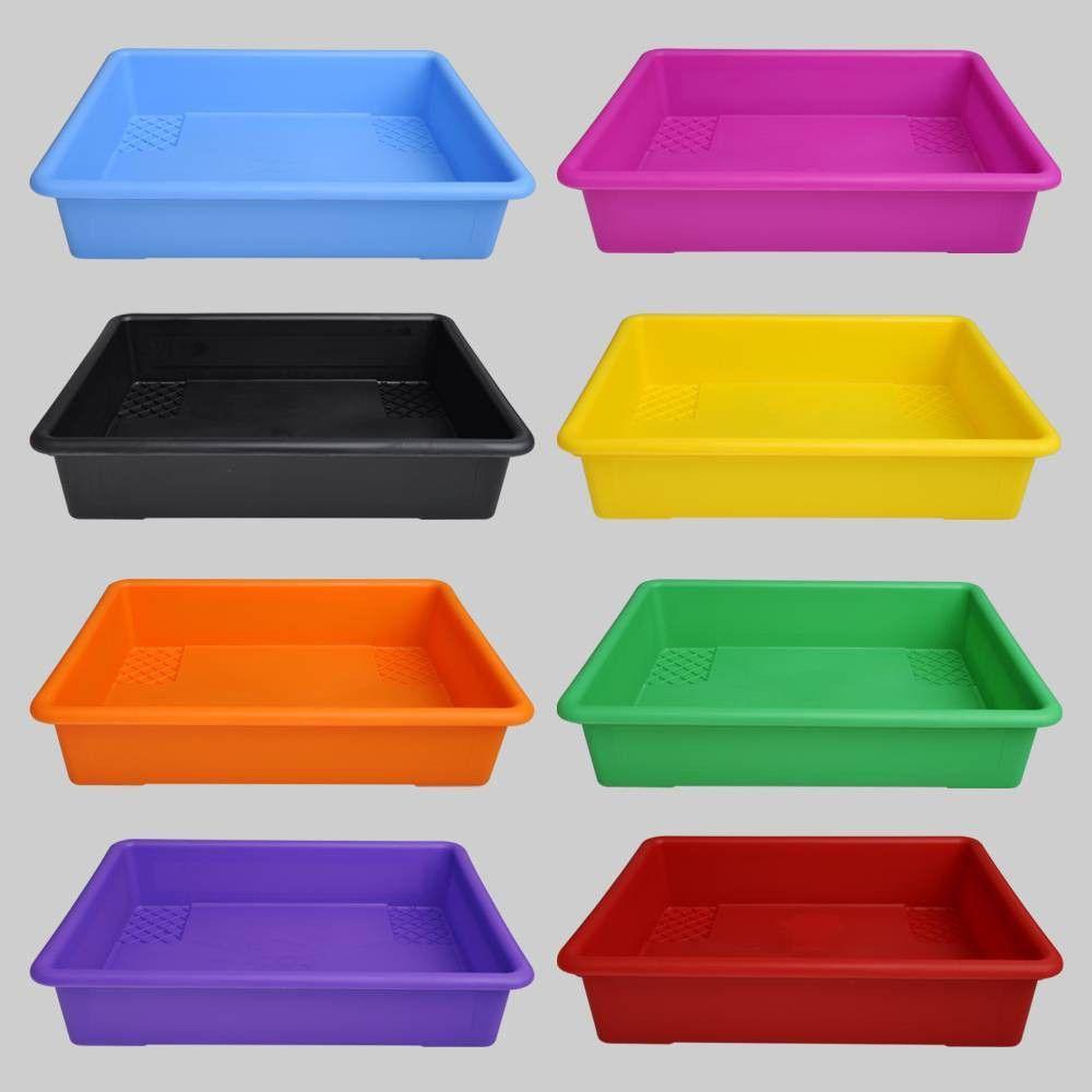 8ct Plastic Paper Trays Bullseye S Playground Paper Tray Plastic Container Storage Paper Tray Organizer