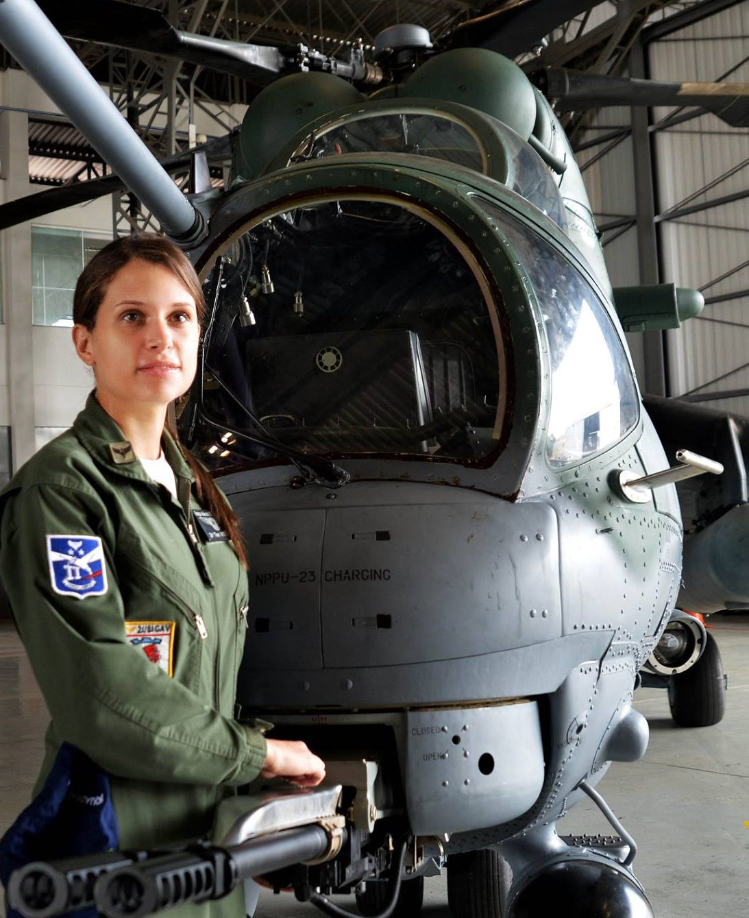 Female Pilot. Brazilian Air Force. Lt. Vitória Bernal.