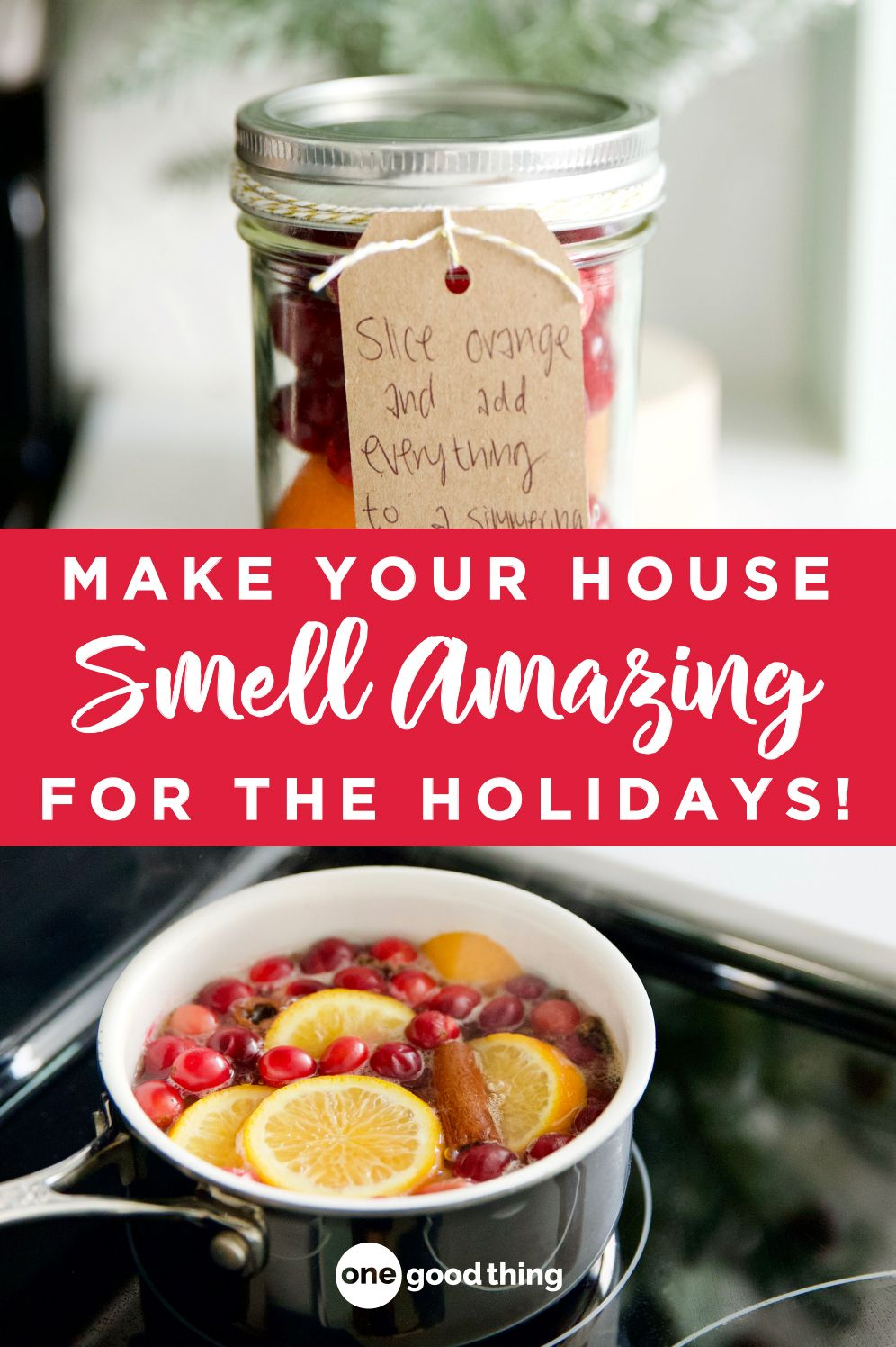 Simmering potpourri is an easy and inexpensive way to make your home smell like the holidays! Learn how to make it here, and how to give it as a gift too! #Christmas #potpourri