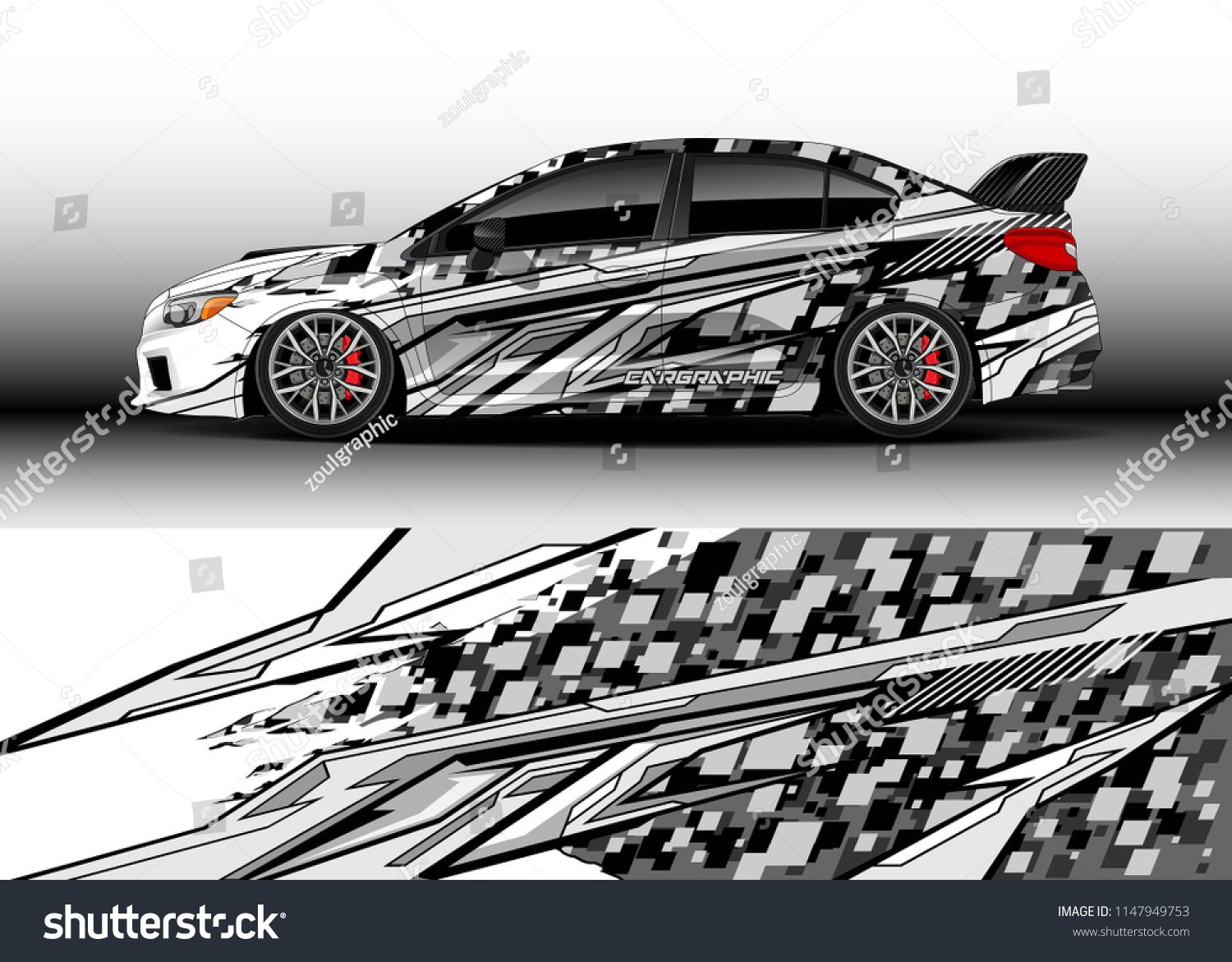 Car Wrap Design Vector Truck And Cargo Van Decal Graphic Abstract