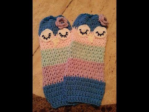 ▷ Crochet Child Sleepy Owl Leg Warmers DIY tutorial - YouTube ...