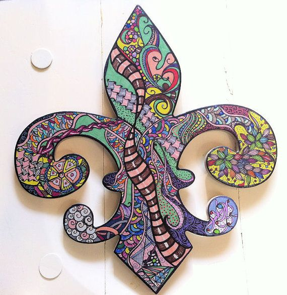 Fleur De Lis Wall Art Bright Vibrant Colors By UrbanIndependence, $27.99
