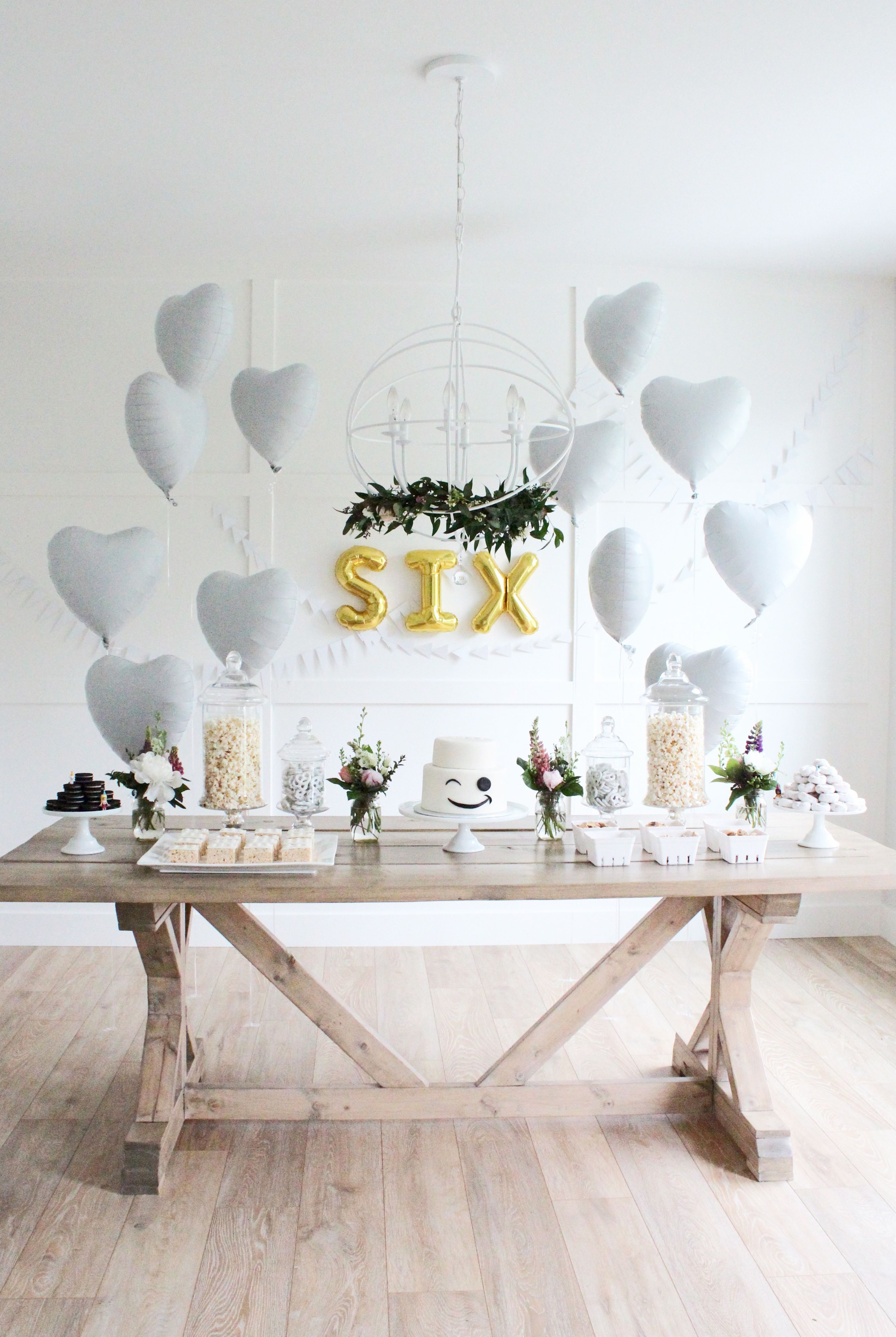 9 easy ways to decorate for a party c e l e b r a t e ariella turns six lego party girl lego party cake birthday party mas