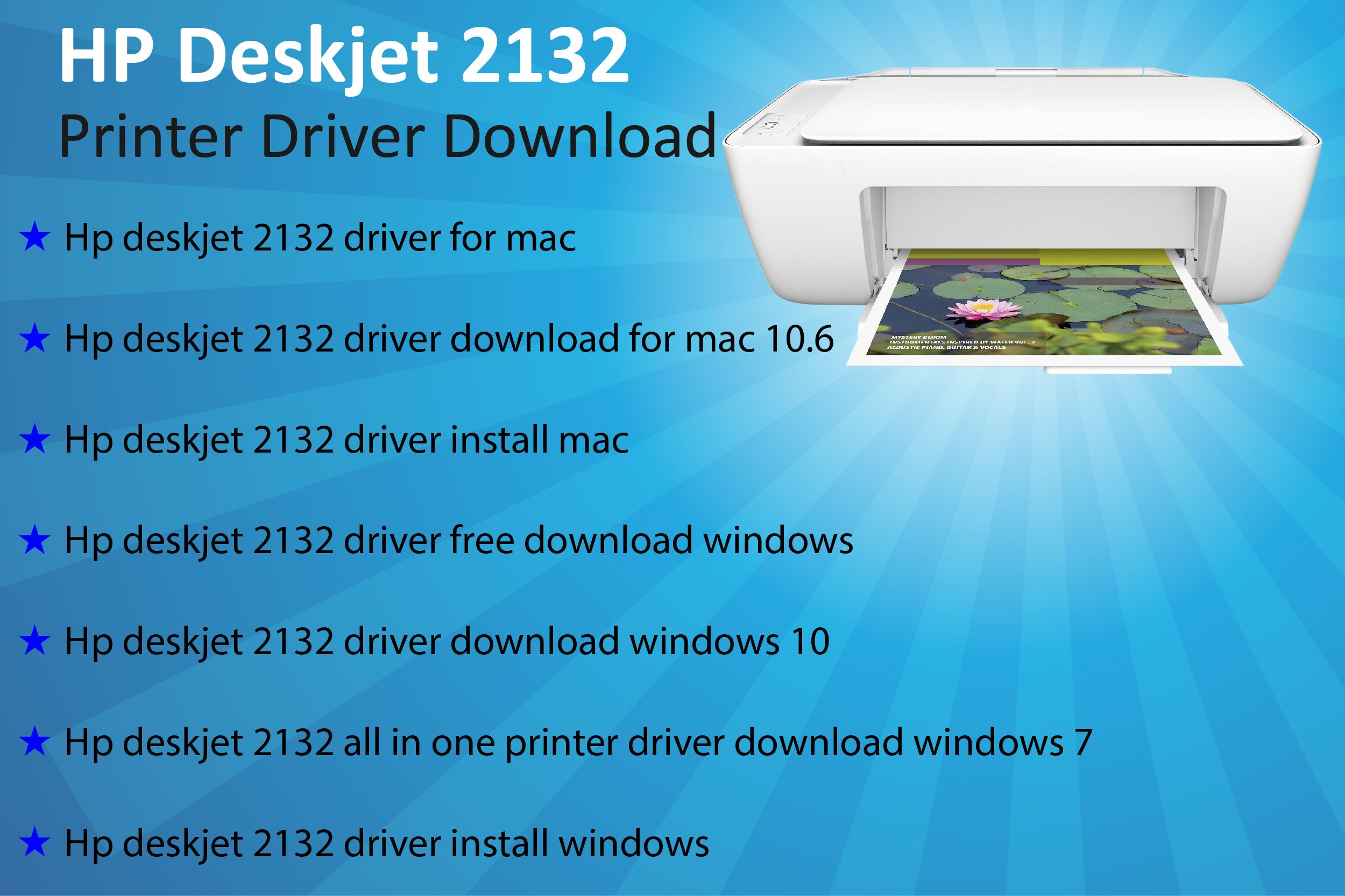 To download the hp deskjet 2132 printer driver for windows
