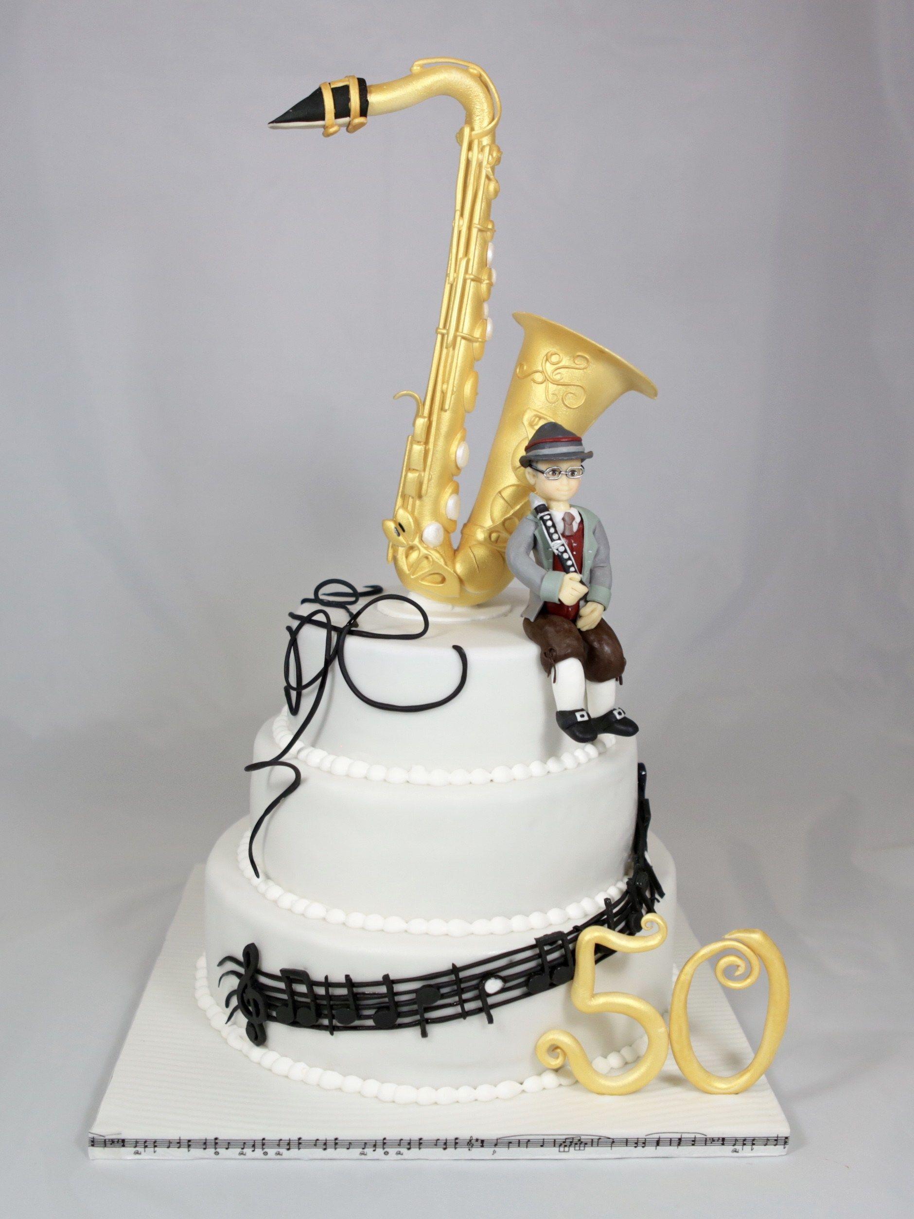 saxophon musik torte cake saxophone music motivtorten. Black Bedroom Furniture Sets. Home Design Ideas