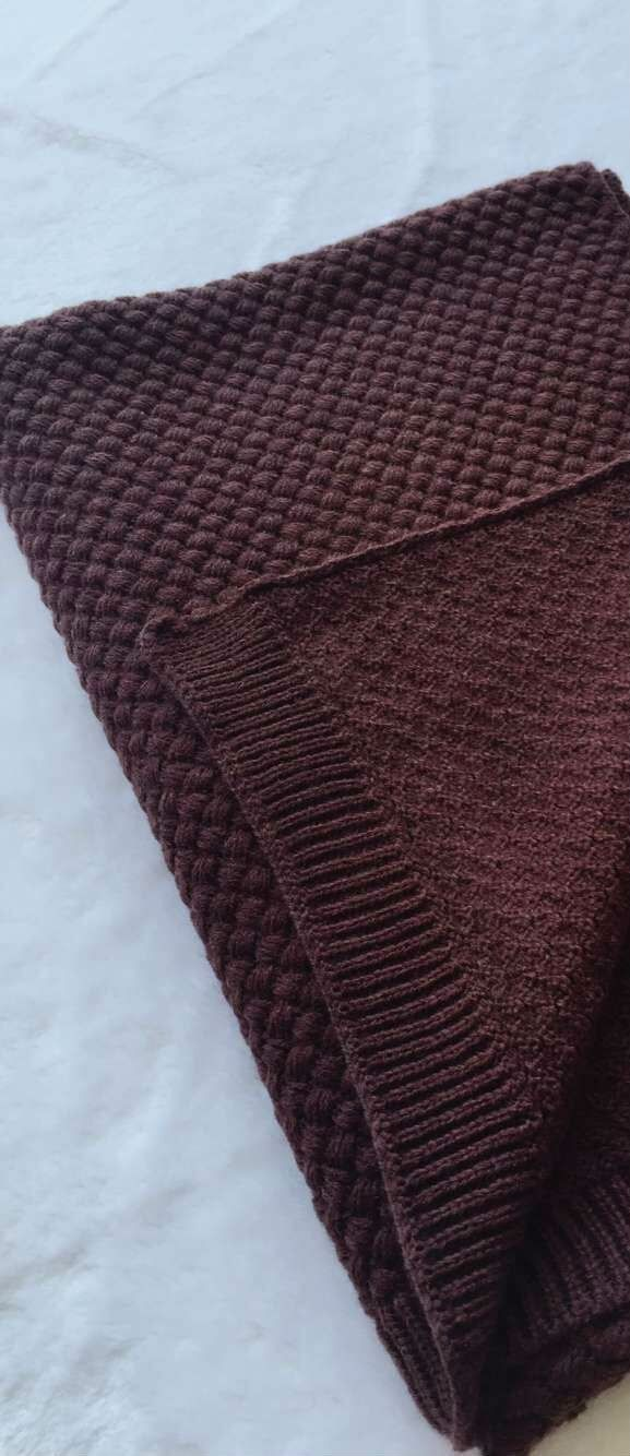 Thick Warm Soft Cashmere Wool Knitted Scarf 16 Colors | Products ...