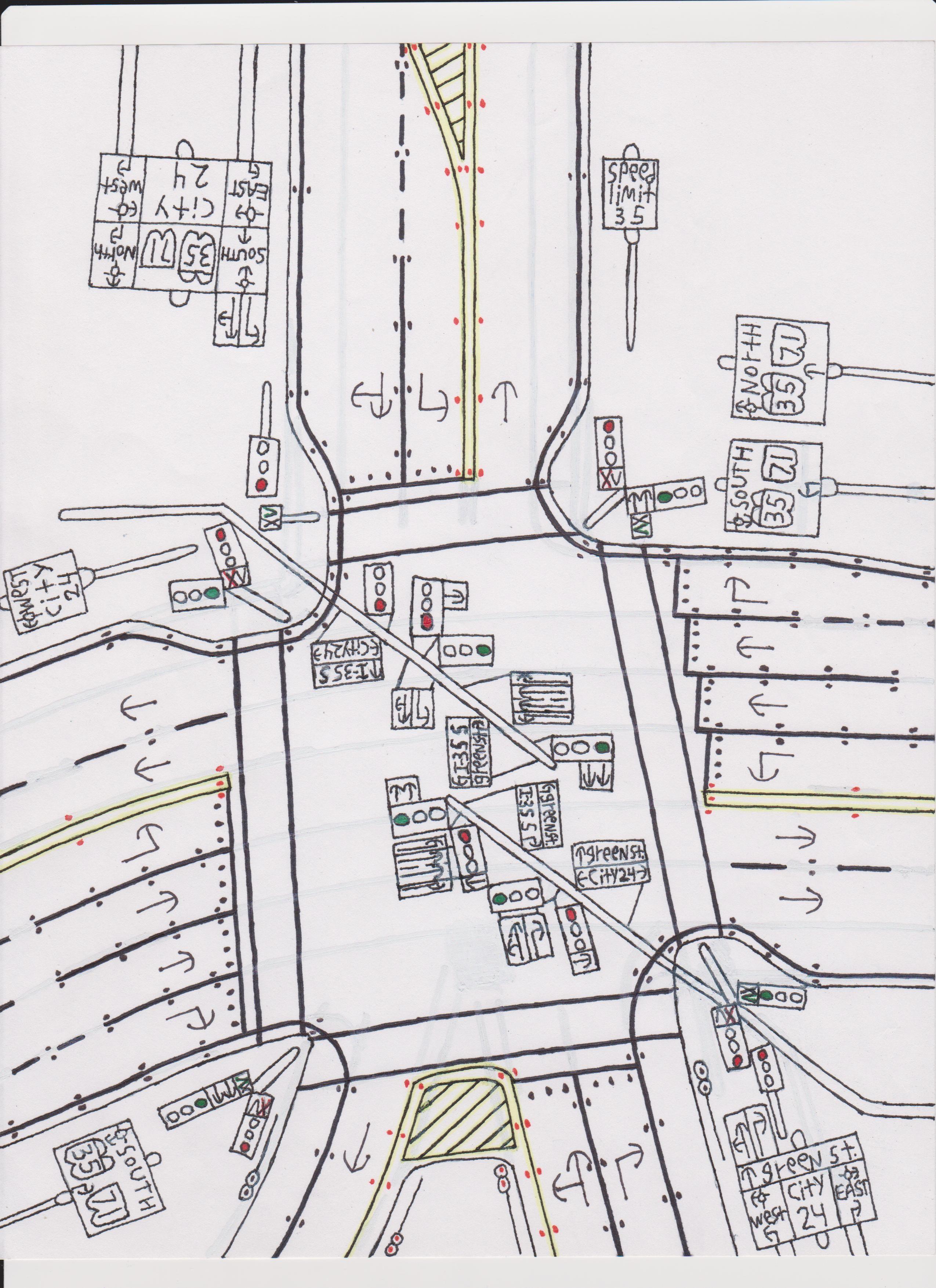 Traffic light intersection. | Road Drawings Stuff | Pinterest ...