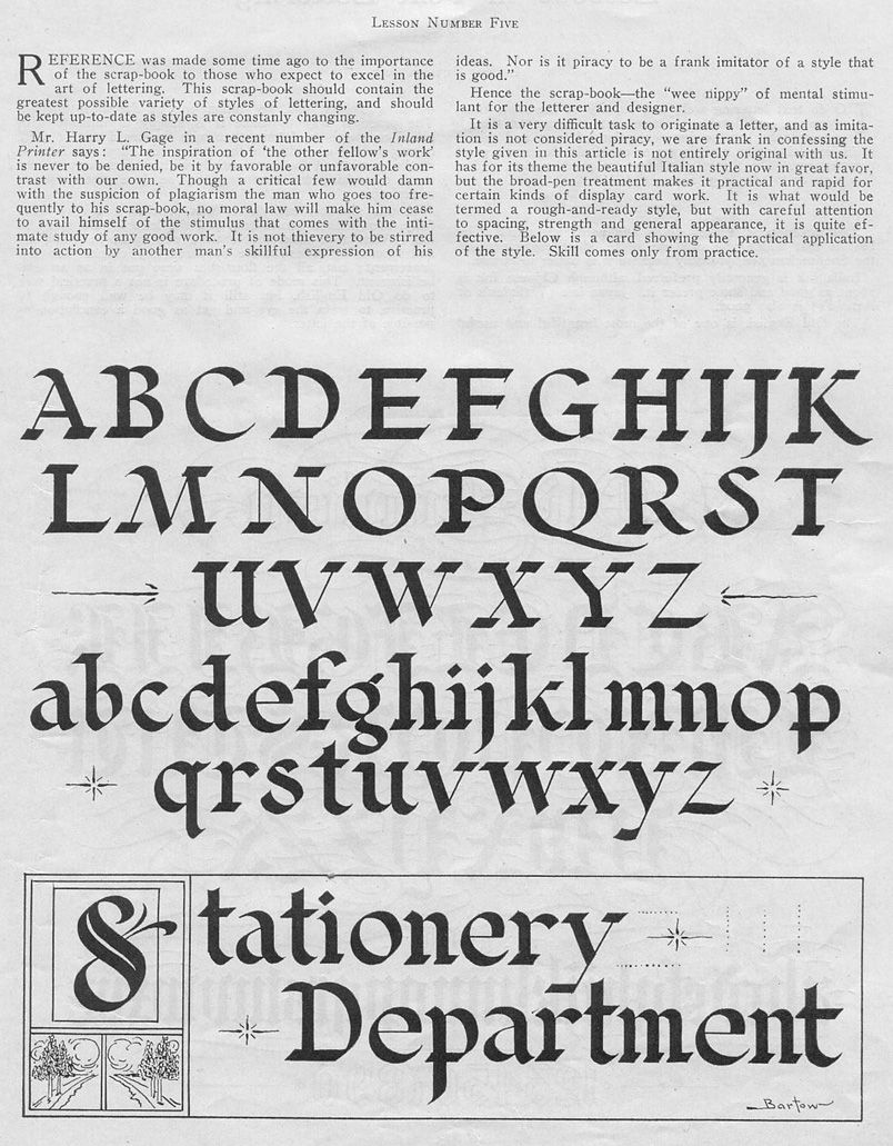 Broad stroke calligraphy guide pinterest